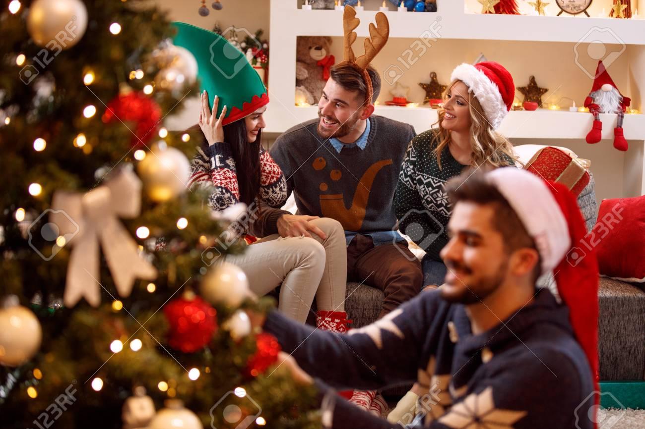 Weihnachten Feiern.Stock Photo