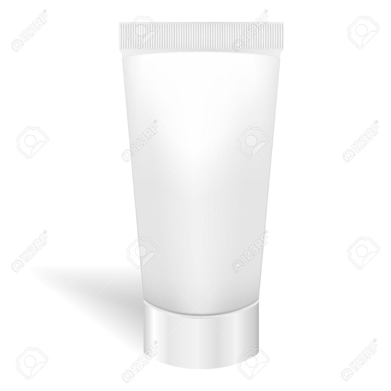 Tubo Blanco En Blanco Para La Crema O Gel Para Embalaje Pasta De ...