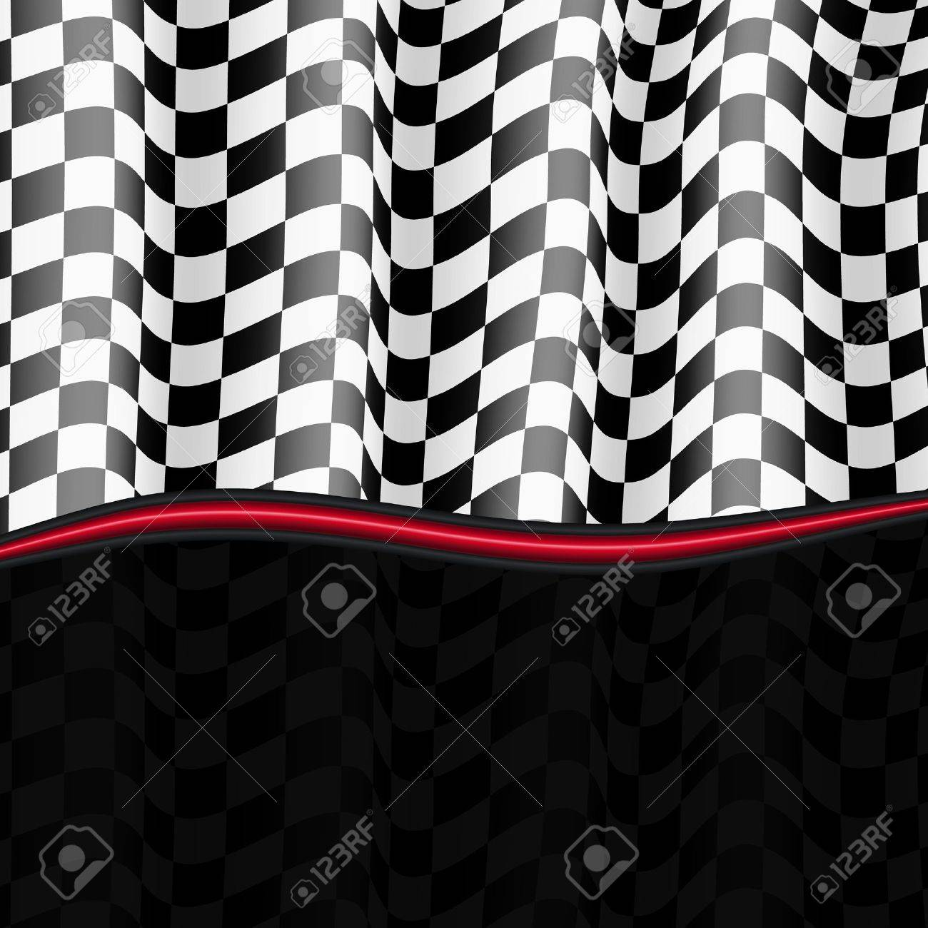 Racing Background  Checkered Flag  Vector eps10 Stock Vector - 18633772