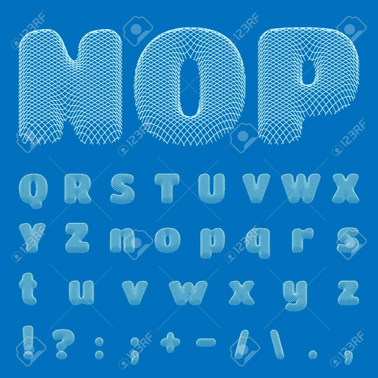 BluePrint Alphabet Stock Vector - 18814496
