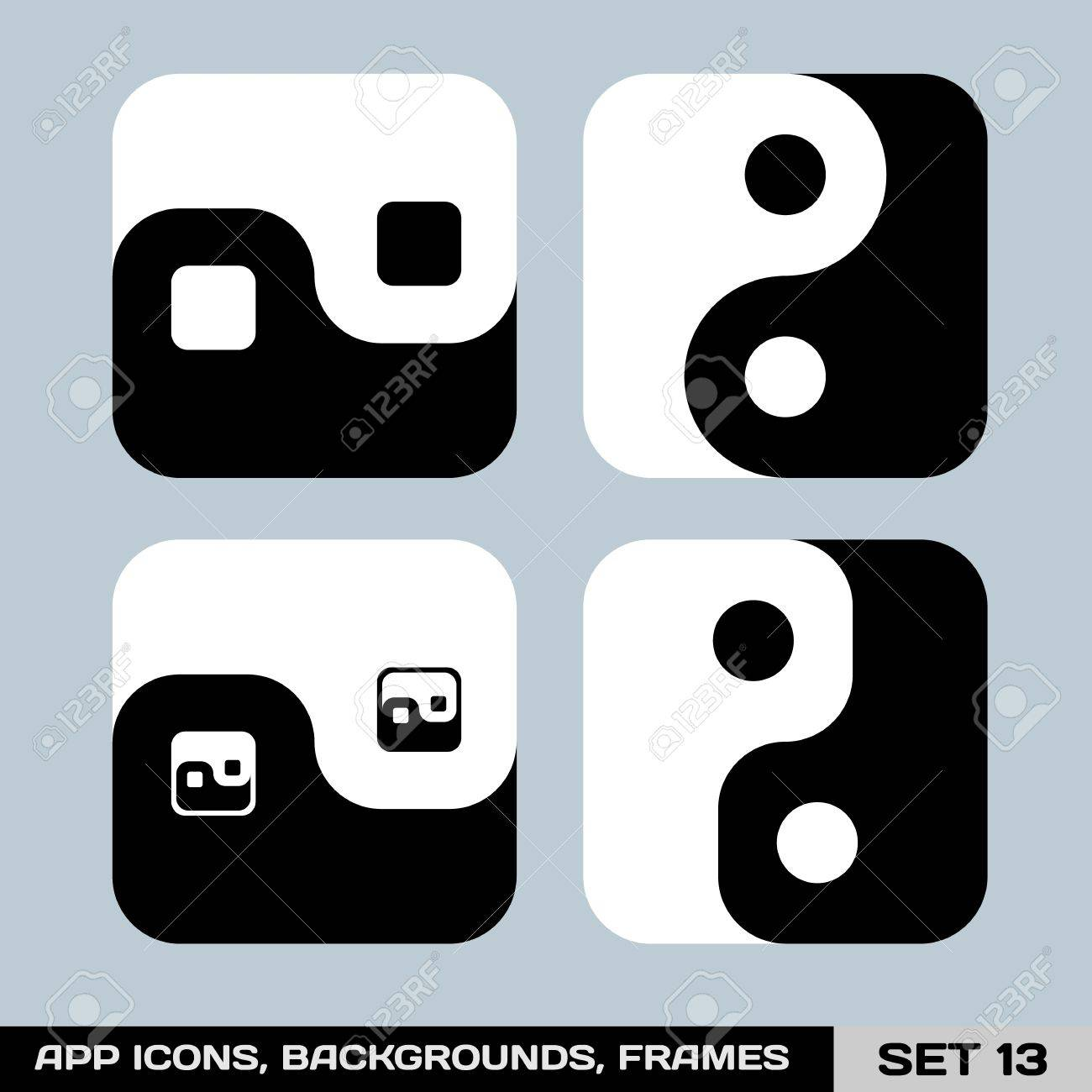 Set Of App Icon Backgrounds, Frames, Templates Set Royalty Free ...