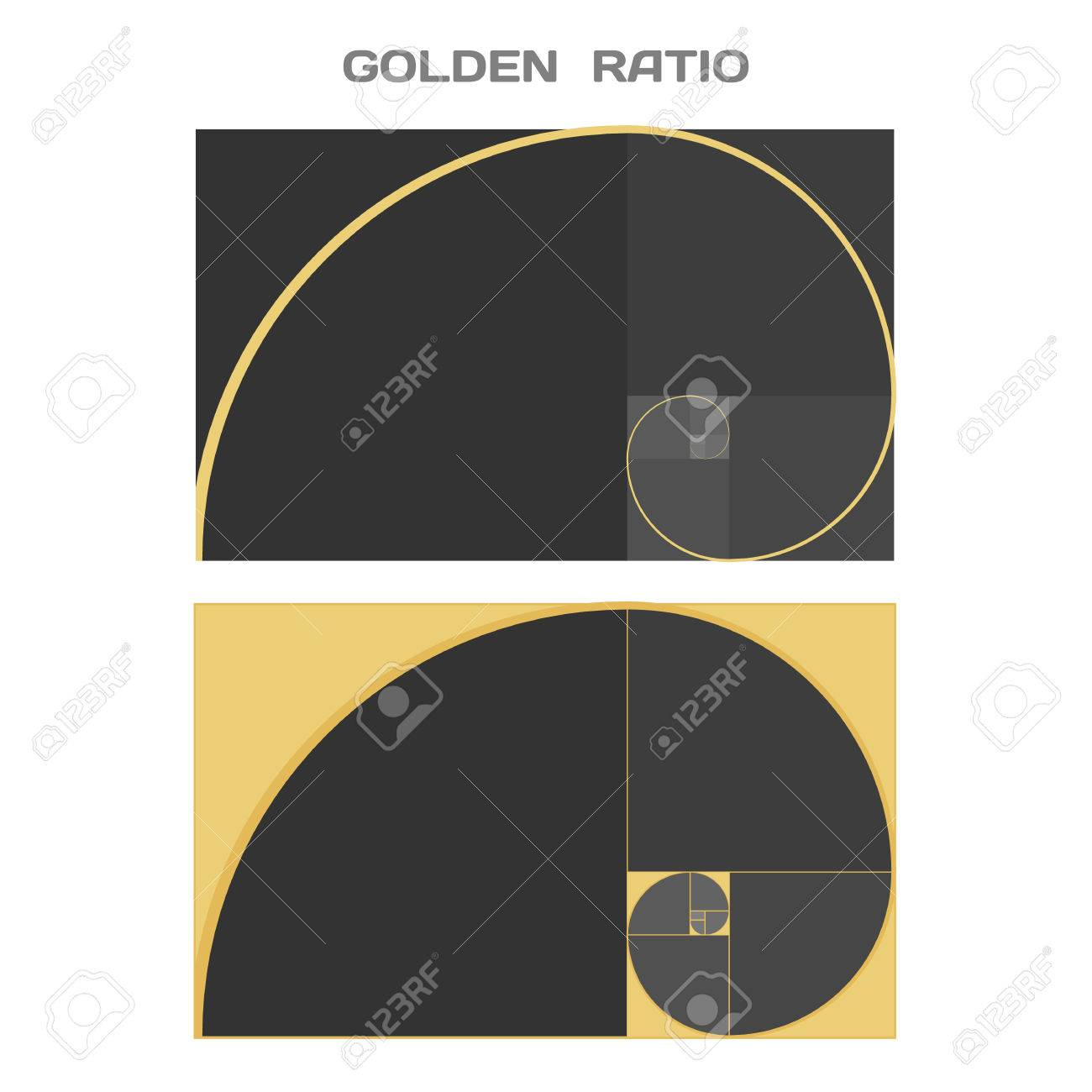 Business card template golden ratio divine proportion ideal business card template golden ratio divine proportion ideal section vector stock reheart Gallery
