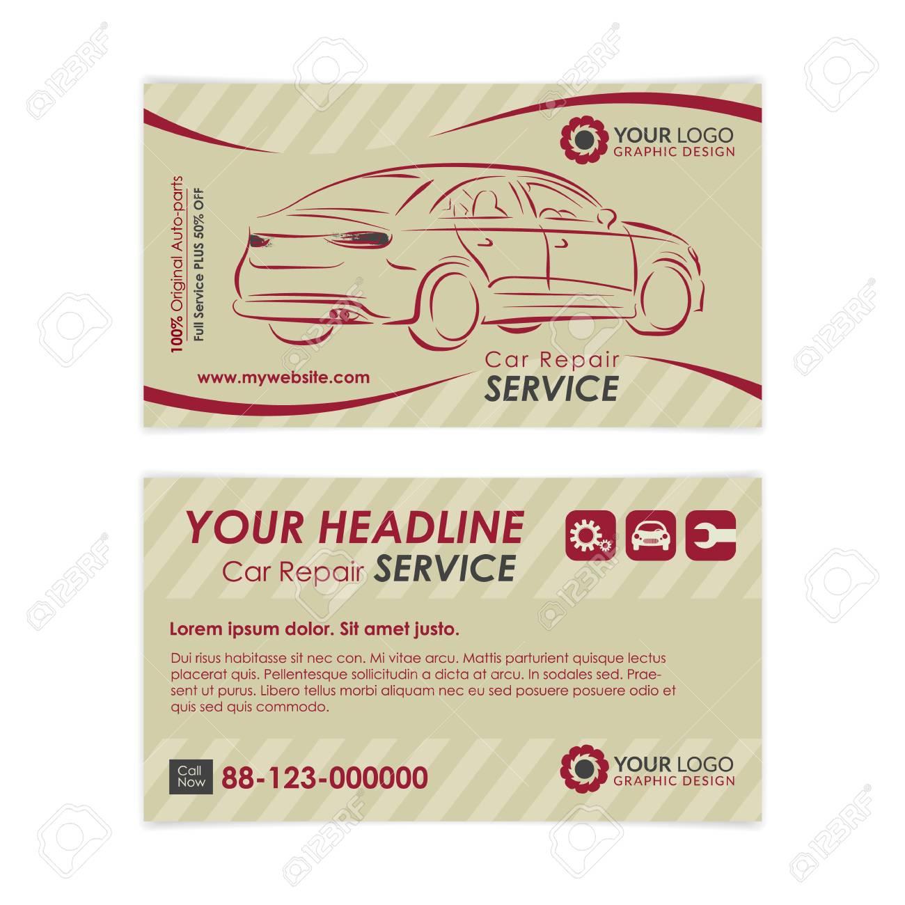 Modele De Carte Visite Vintage Auto Repair Creez Vos Propres