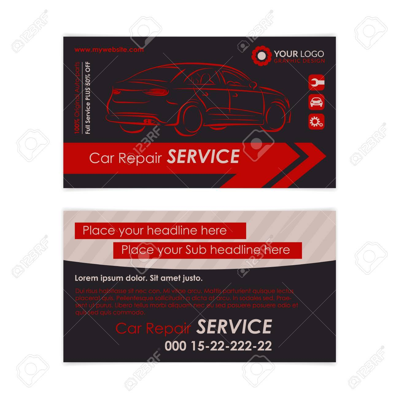 Auto Repair Business Card Template. Create Your Own Business ...