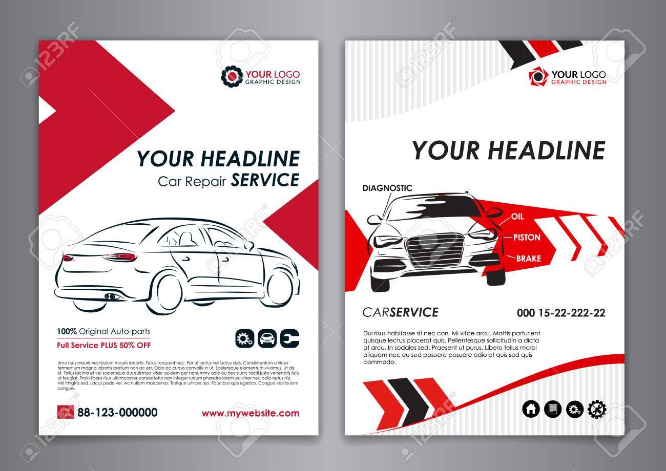 a5 a4 service car business layout templates auto repair brochure templates automobile magazine