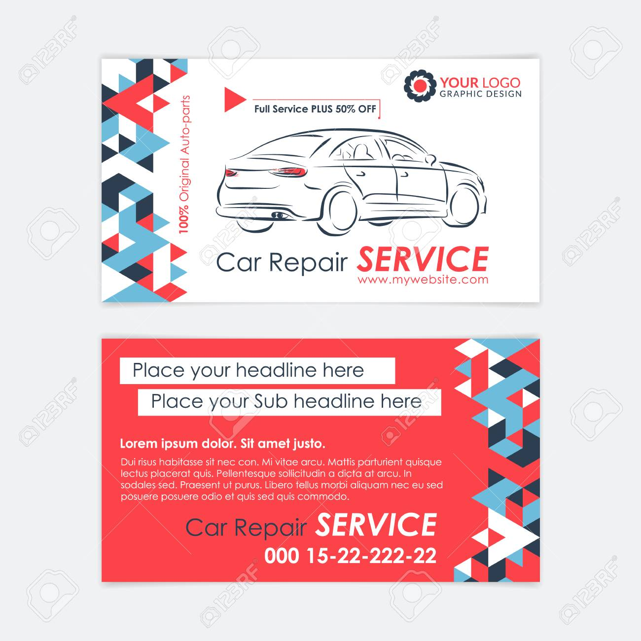 Automotive service business card template car diagnostics and automotive service business card template car diagnostics and transport repair create your own business friedricerecipe Images