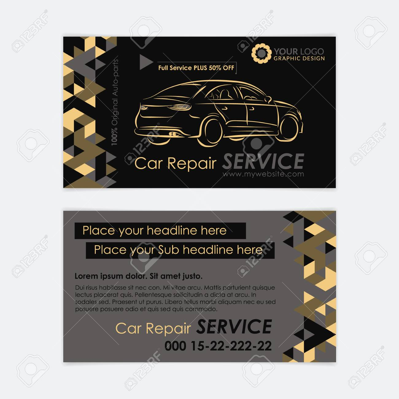 Automotive service business card template car diagnostics and automotive service business card template car diagnostics and transport repair create your own business reheart Gallery