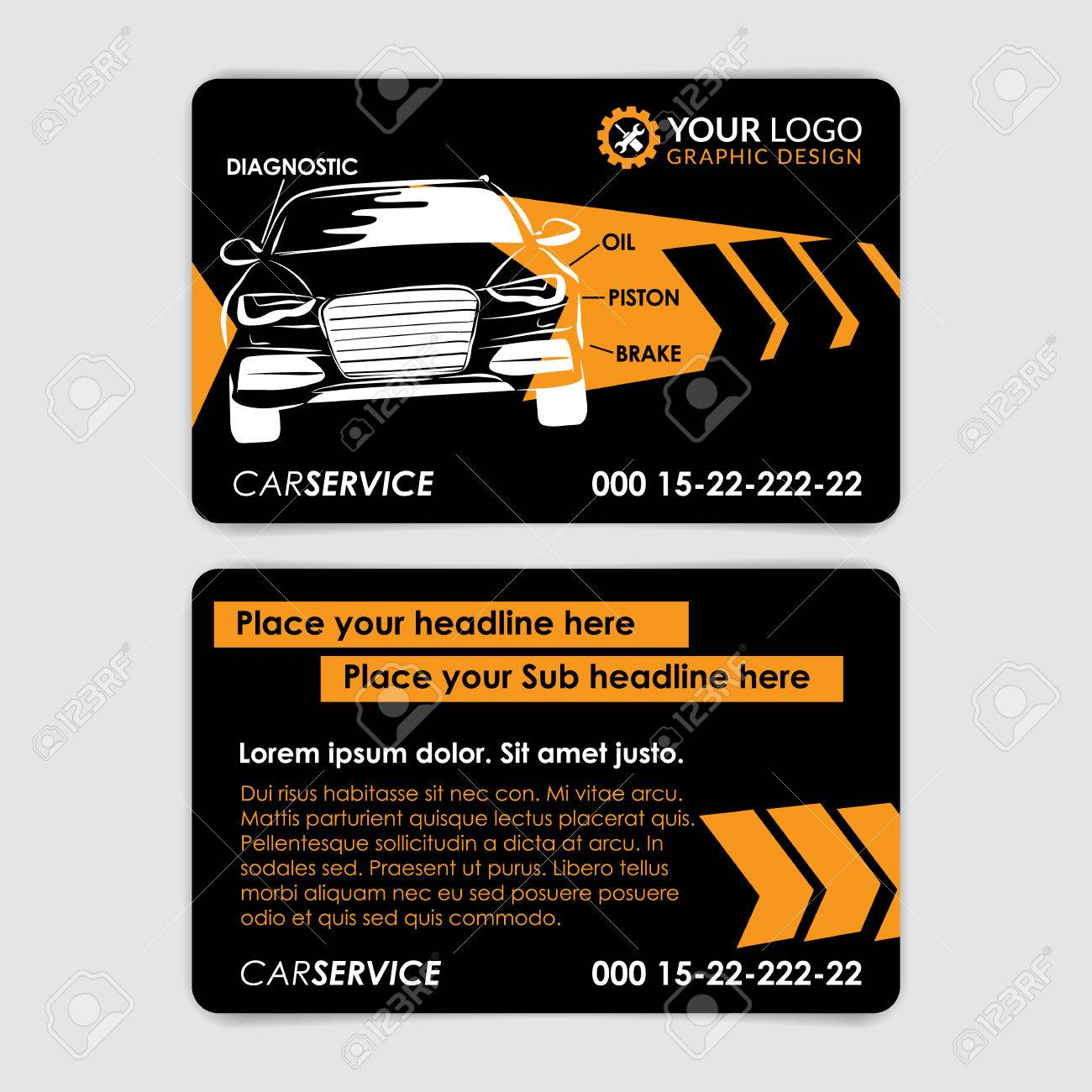 Auto Repair Business Card Template Create Your Own Business