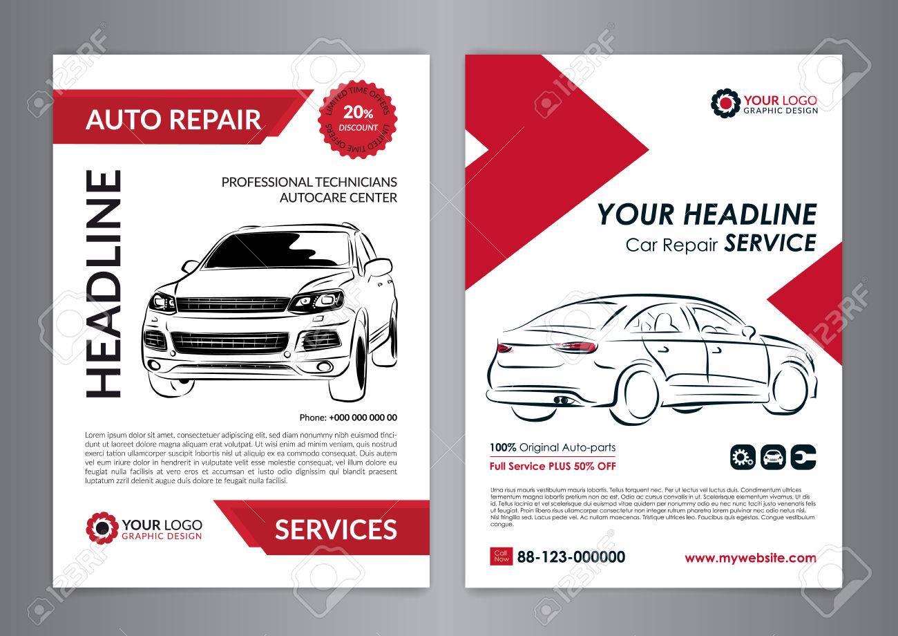 set auto repair business layout templates automobile magazine