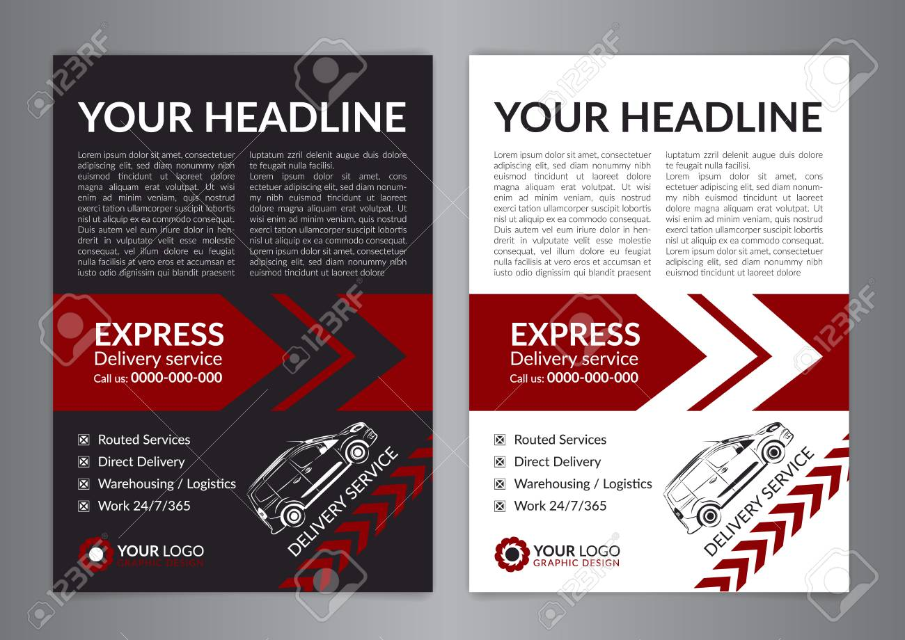 delivery flyer template
