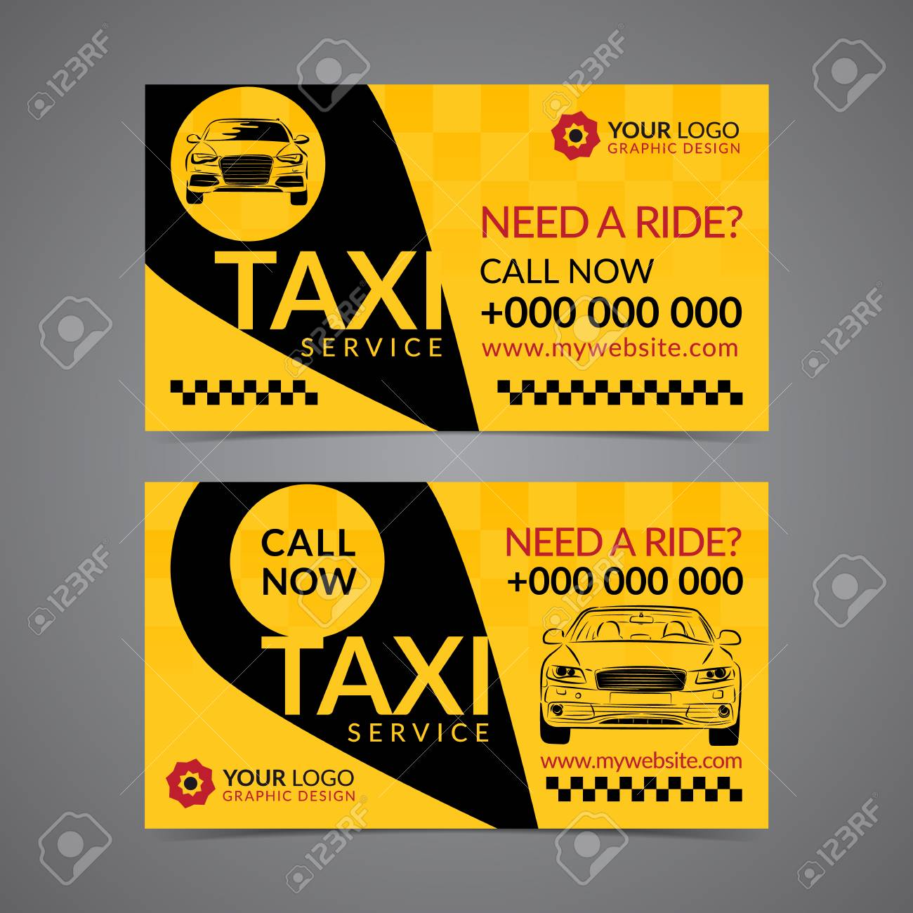 Taxi Pickup Service Business Card Layout Template Create Your - Business card layout template