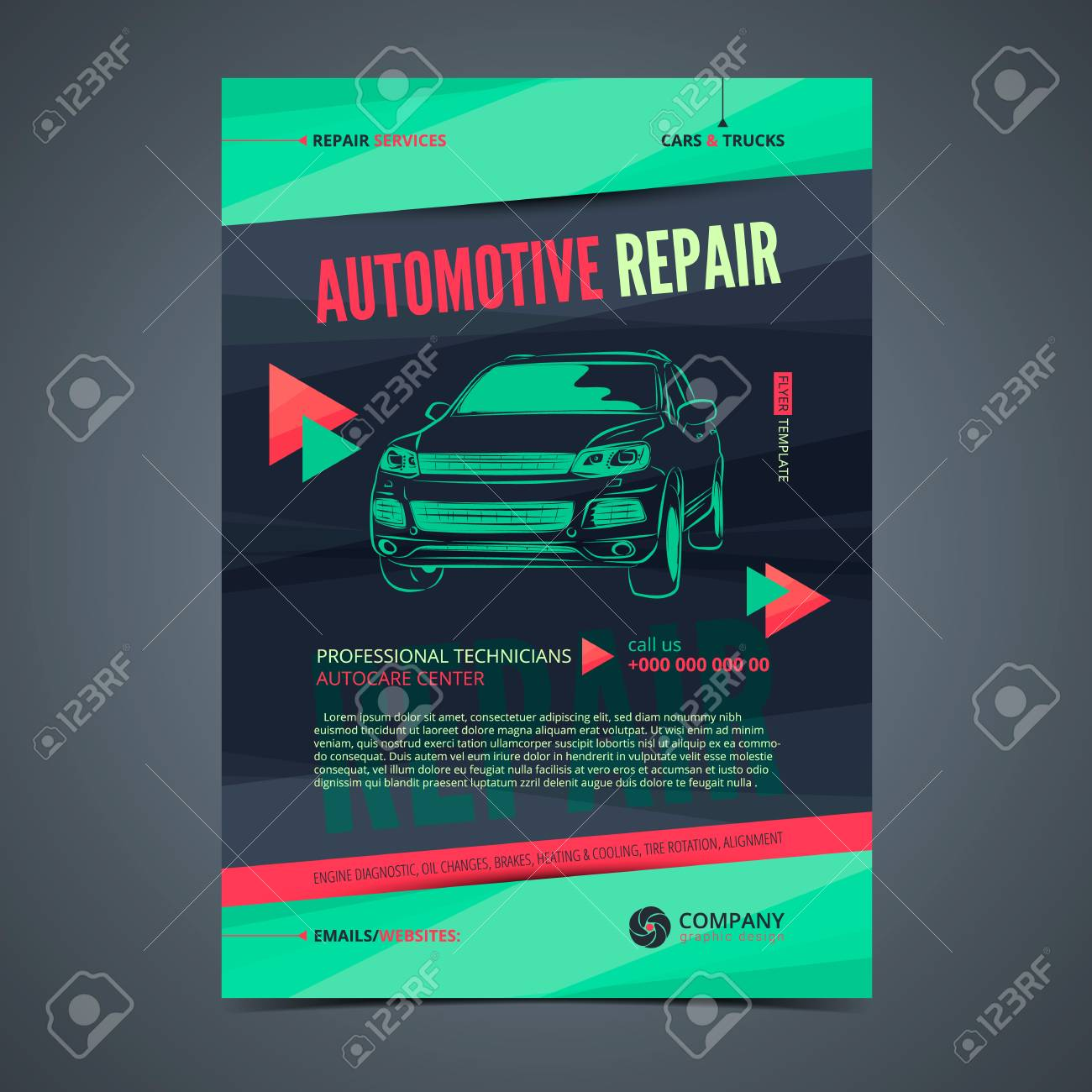 Auto Repair Services Layout Templates Automobile Magazine Cover Royalty Free Cliparts Vectors And Stock Illustration Image 81195215
