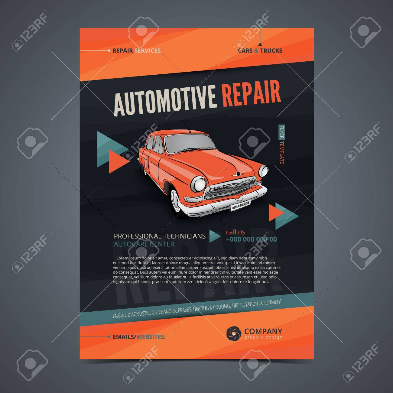 Auto Repair Services Layout Templates, Automobile Magazine Cover ...