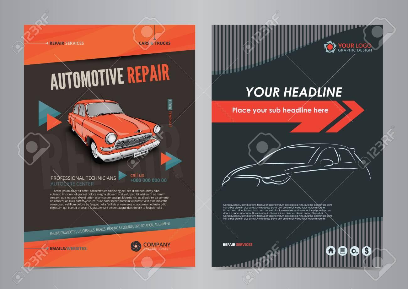 auto repair services layout templates automobile magazine cover