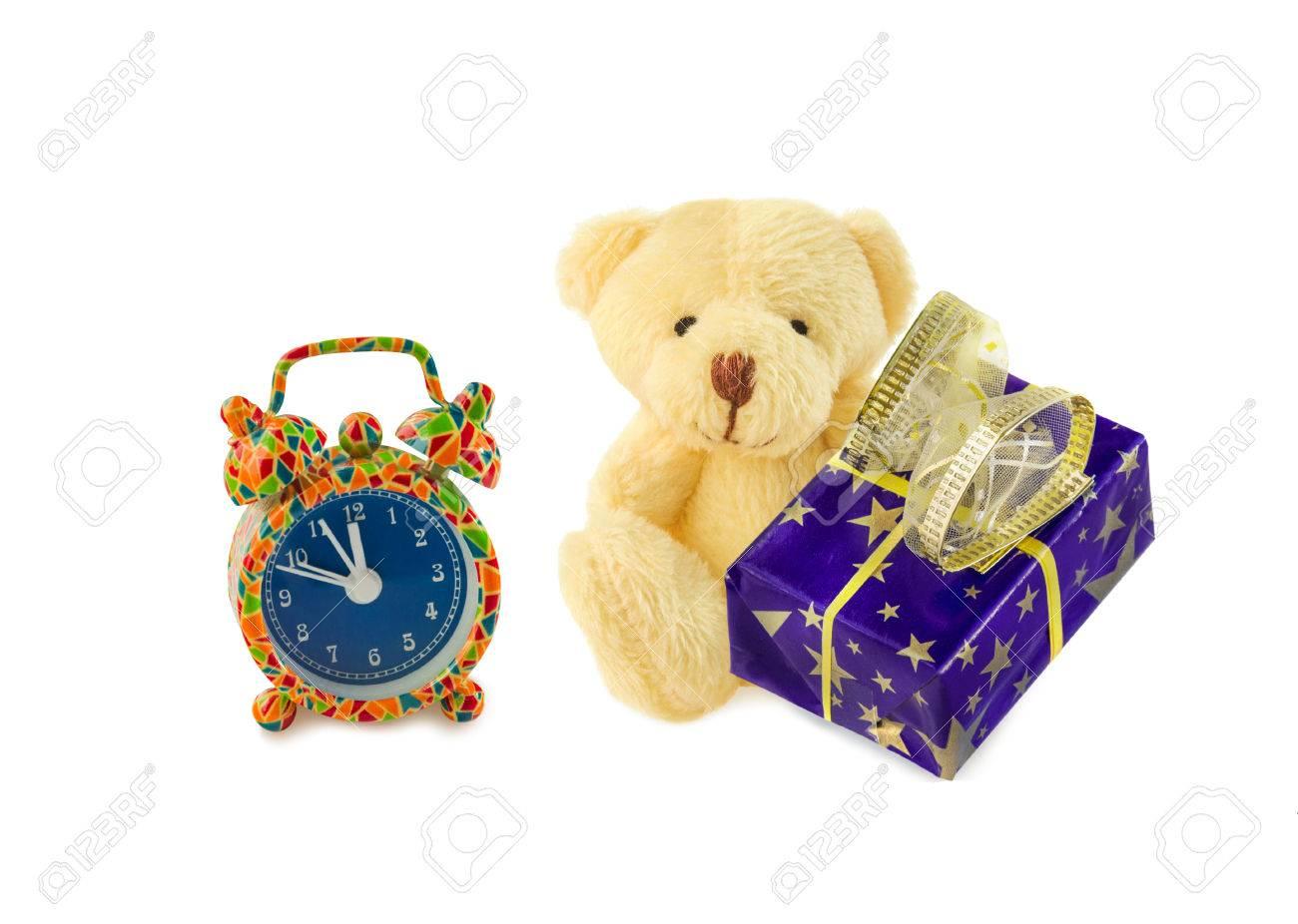Bearanimale di blu sveglia pezza Teddy con regalo e scatola classico ulFc3KJT1