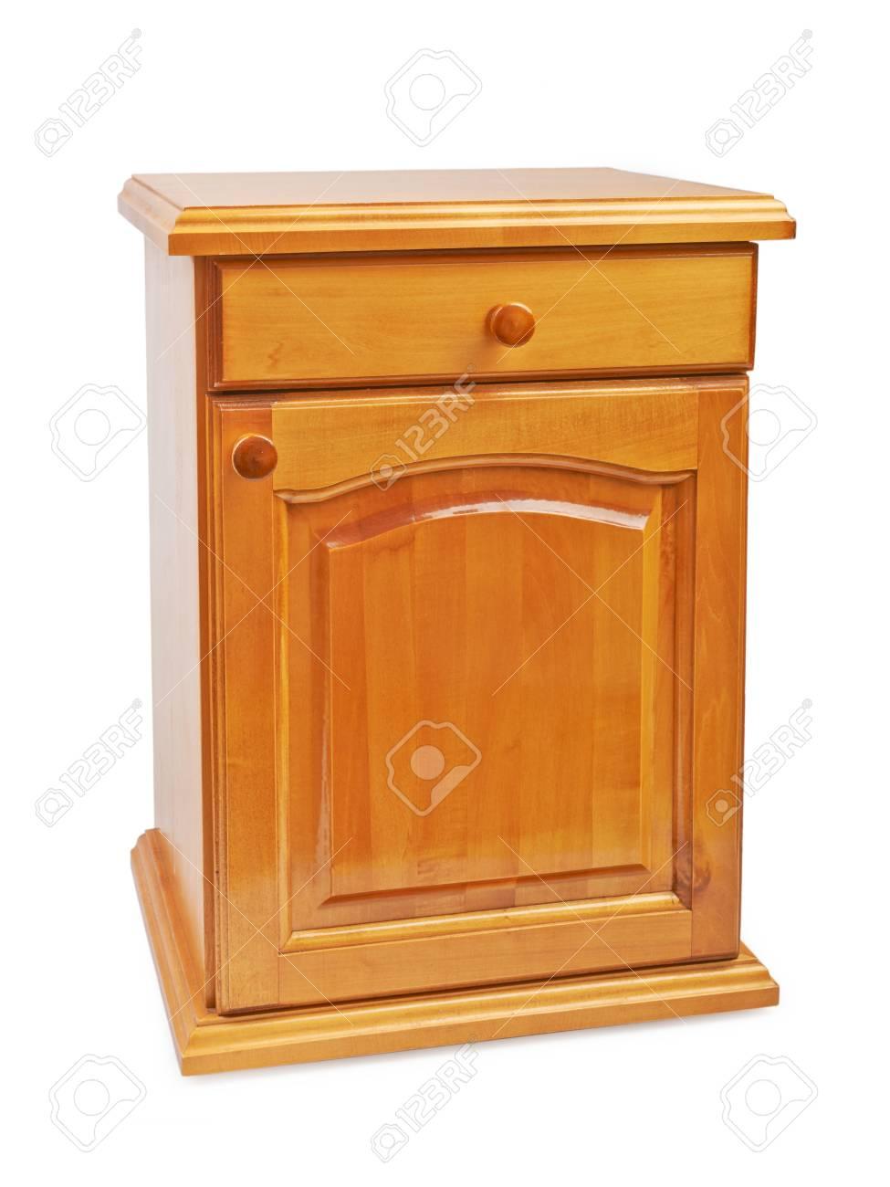 Holz Nachttisch holz nachttisch nachttisch auf einem weißen hintergrund lizenzfreie