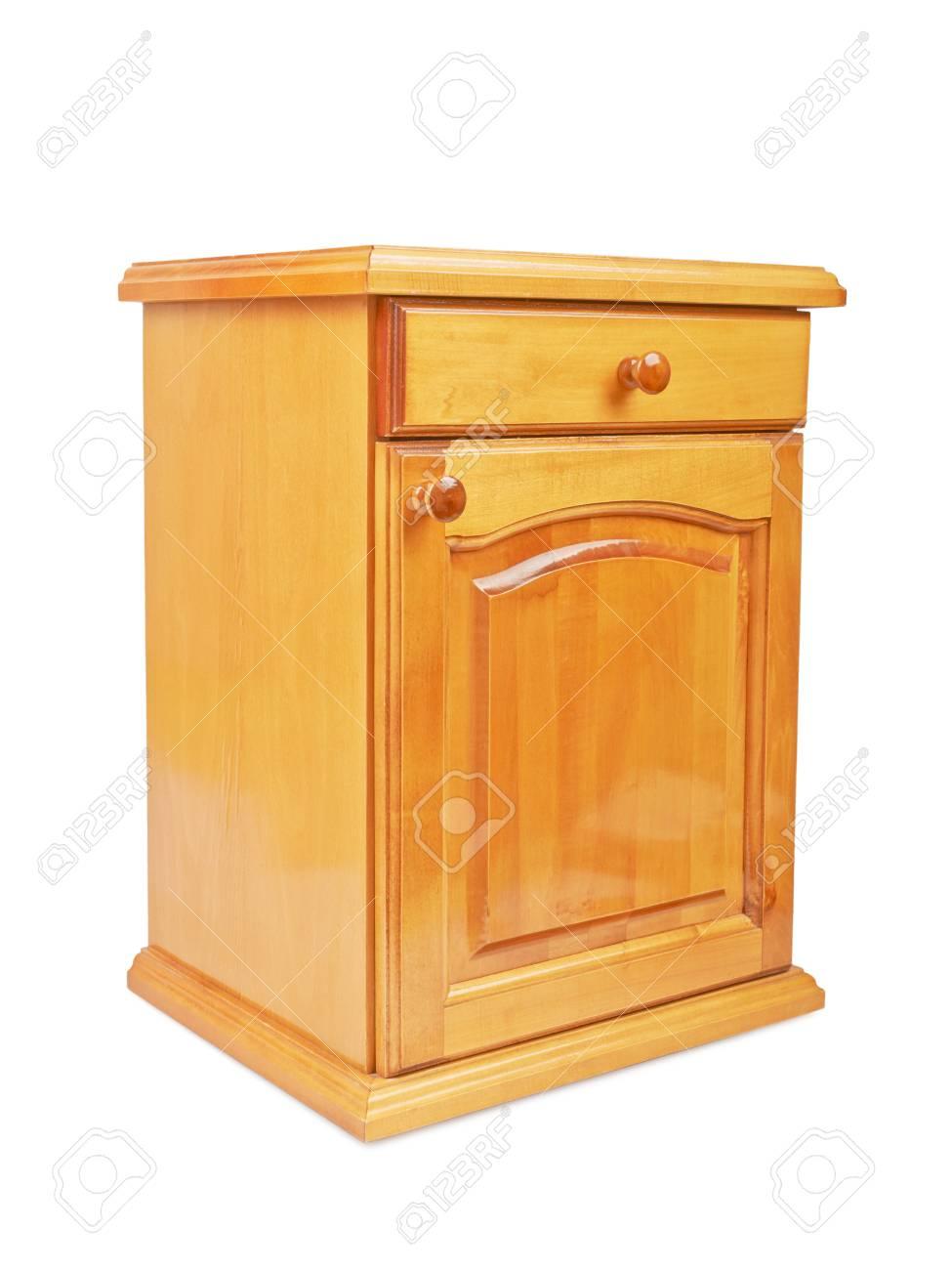 Wundervoll Nacht Tisch Sammlung Von Holz Nachttisch Nachttisch Auf Einem Weißen Hintergrund