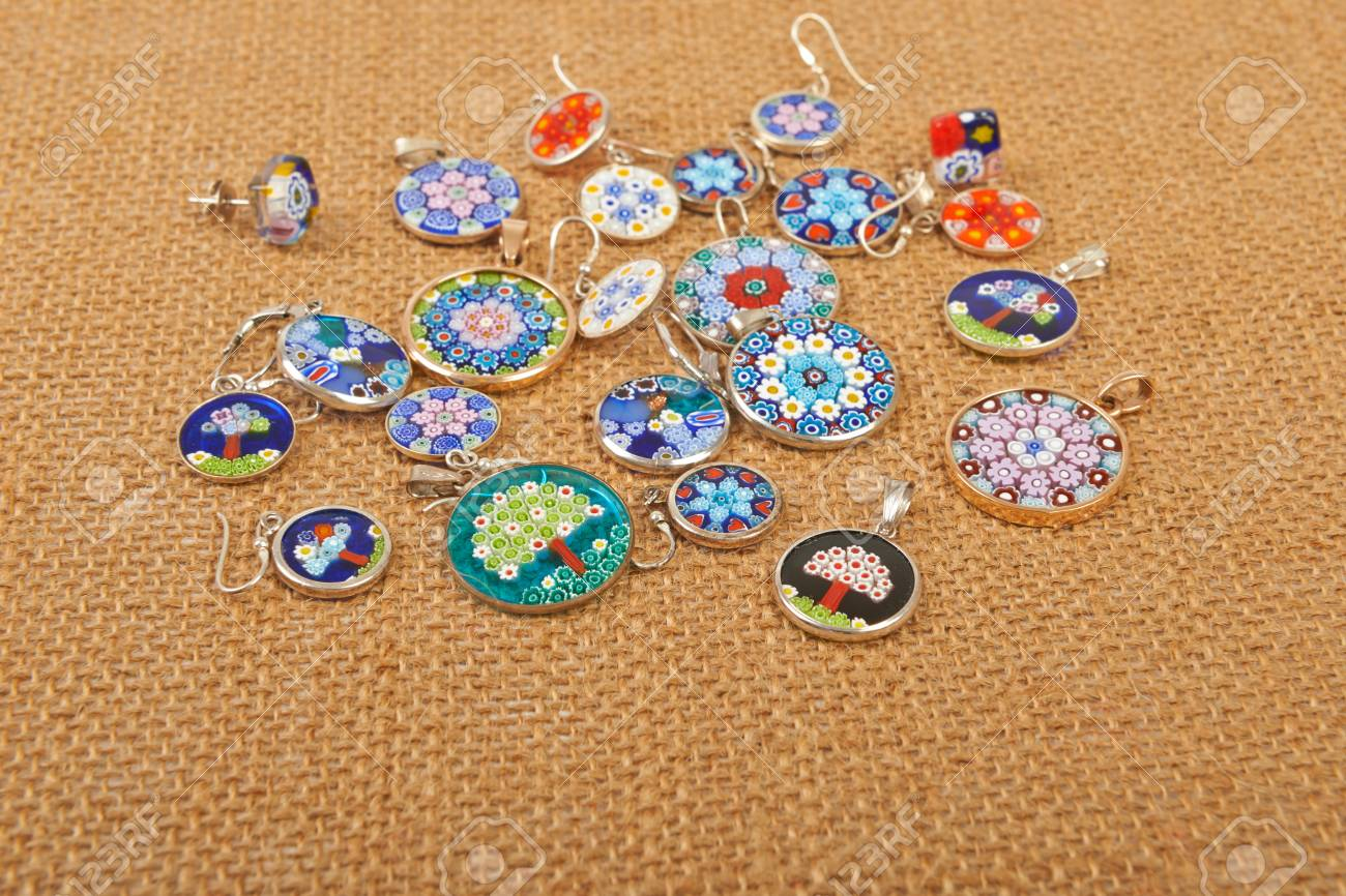 Murano glass jewelry pendants and earrings venice on canvas stock murano glass jewelry pendants and earrings venice on canvas stock photo 36251107 aloadofball Choice Image
