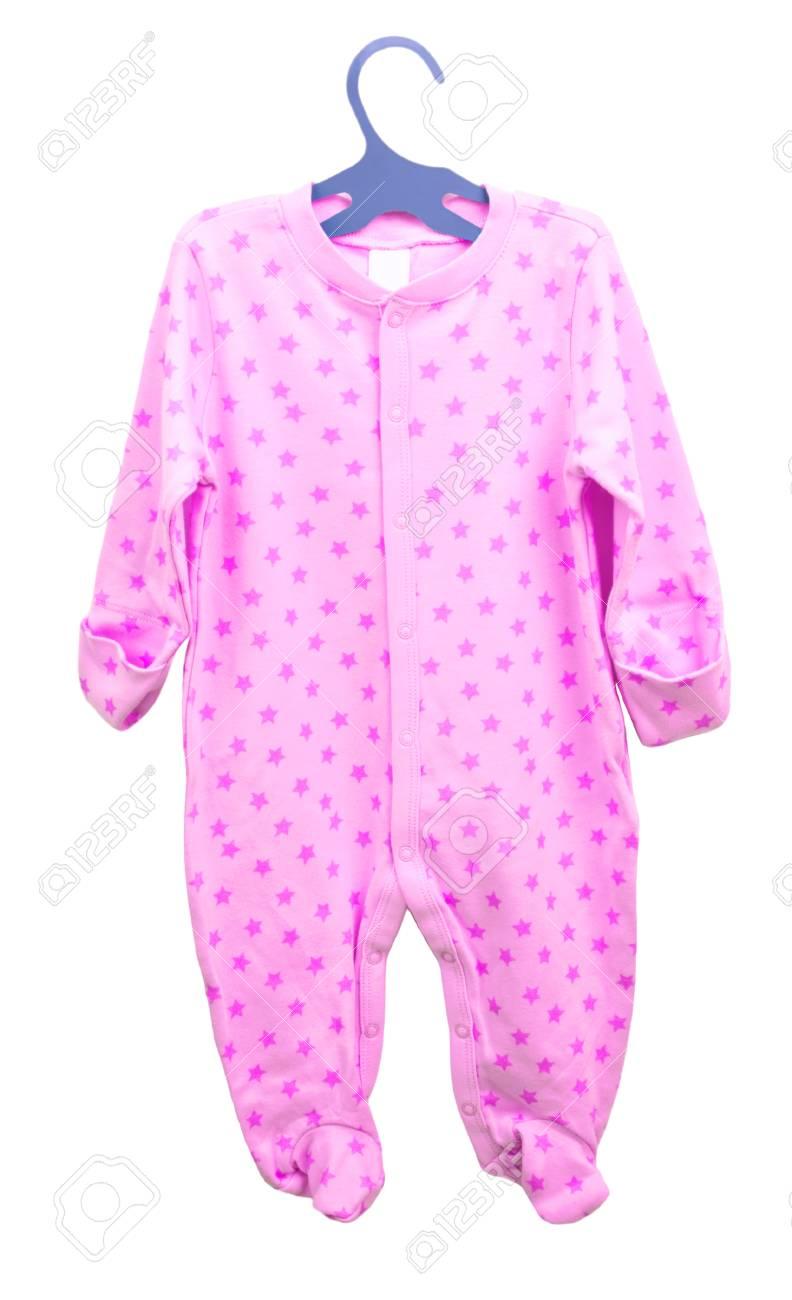 8e482158b0 ... aisladas sobre fondo blanco. Artículos para bebés colgando. cuerpo de  la ropa deslizadores cosmonauta pijama de los niños en