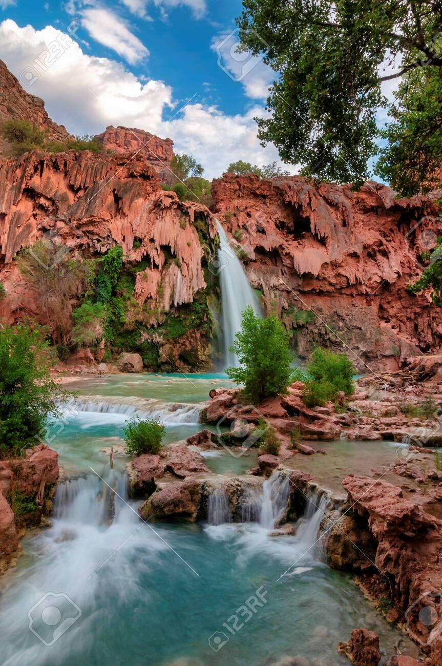 Havasu Falls Waterfalls In The Grand Canyon Arizona Stock Photo Picture And Royalty Free Image Image 150716920