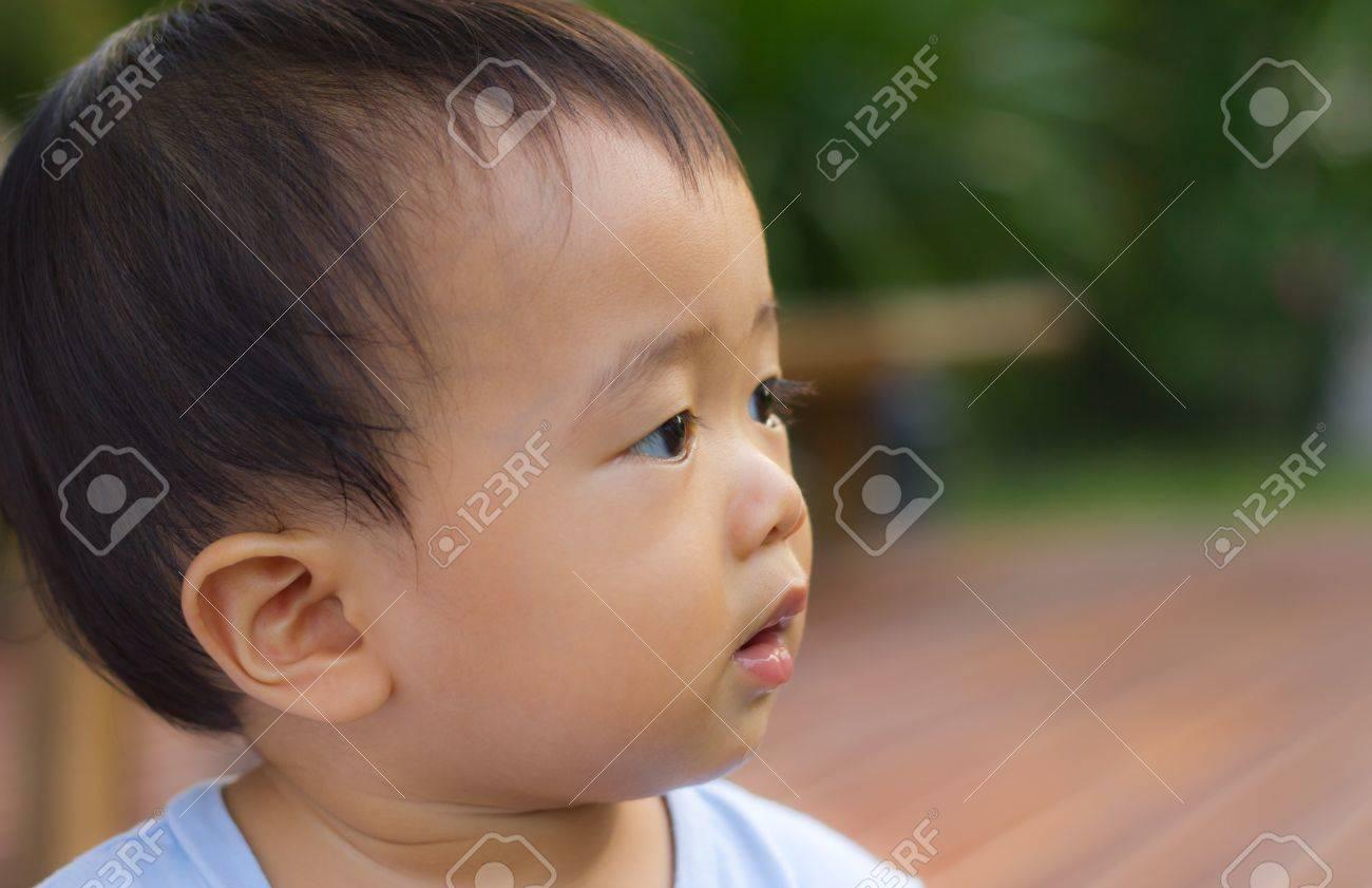 Happy asian baby boy Stock Photo - 9956159