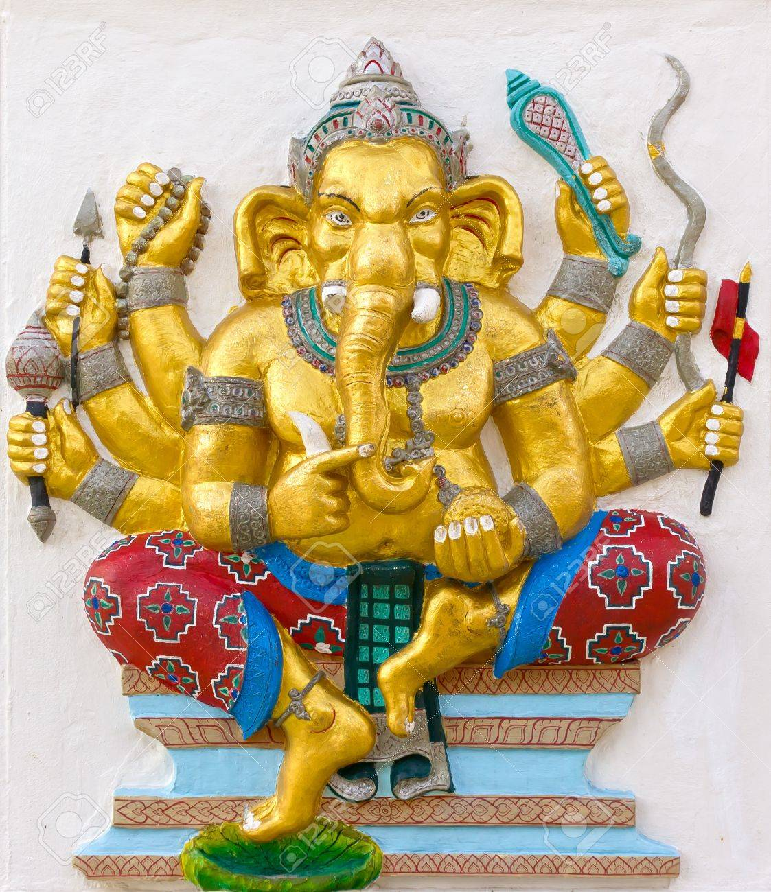 Indian God Ganesha or Hindu God Name Duraga Ganapati avatar image