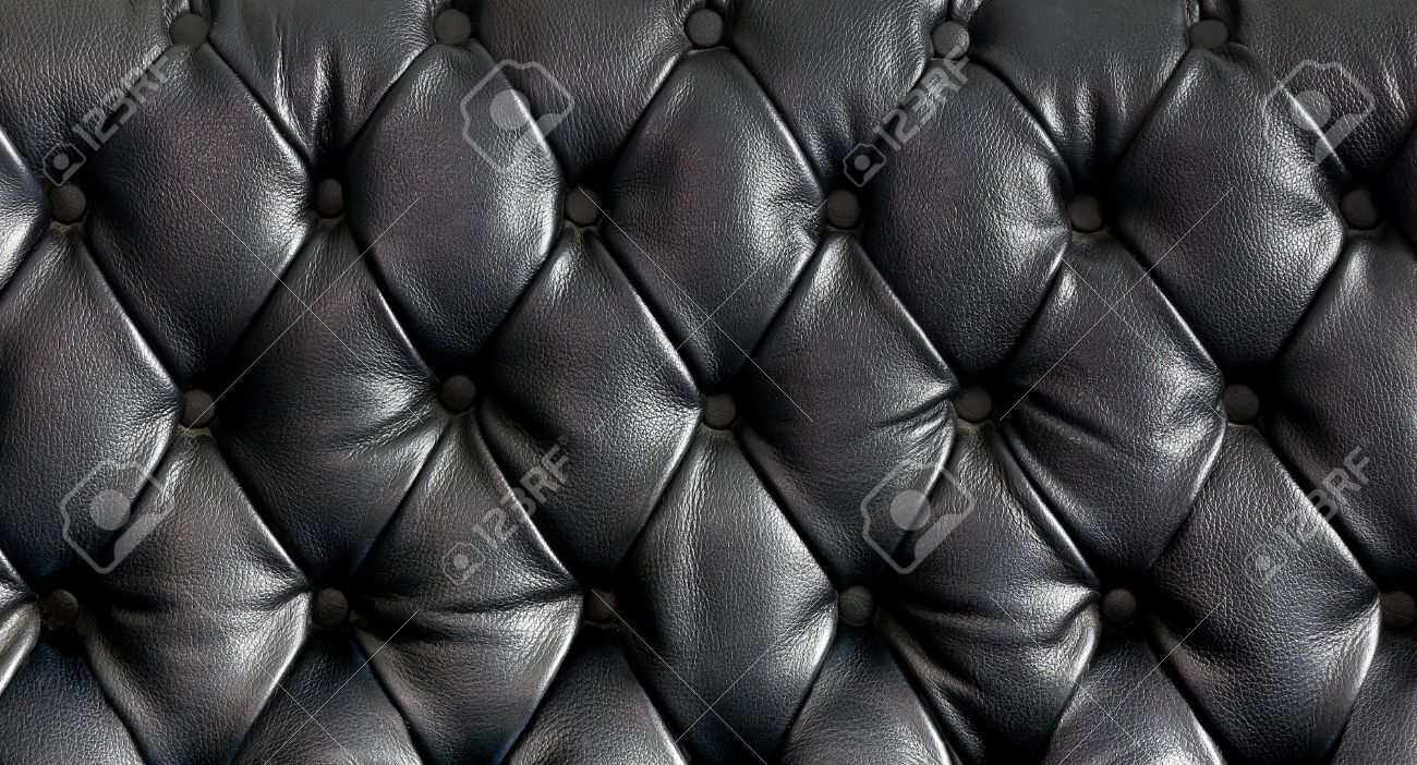 Leather cushion texture - Leather Cushion Closeup Texture Of Vintage Black Leather Sofa For Background Stock Photo