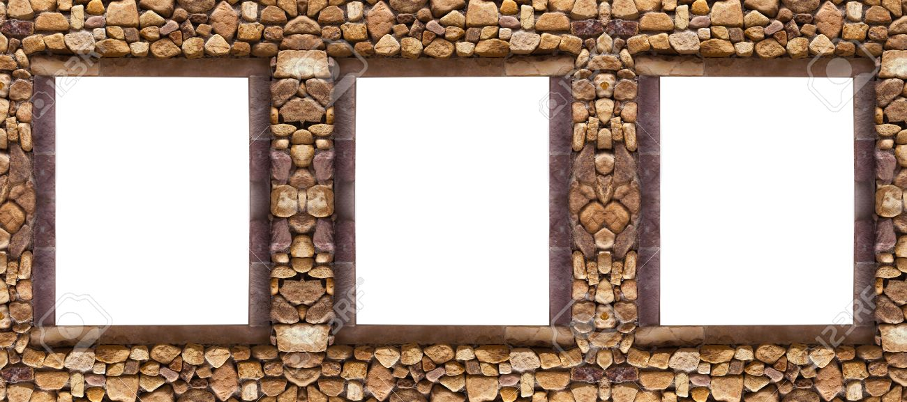 stock photo three frame stones for spa background