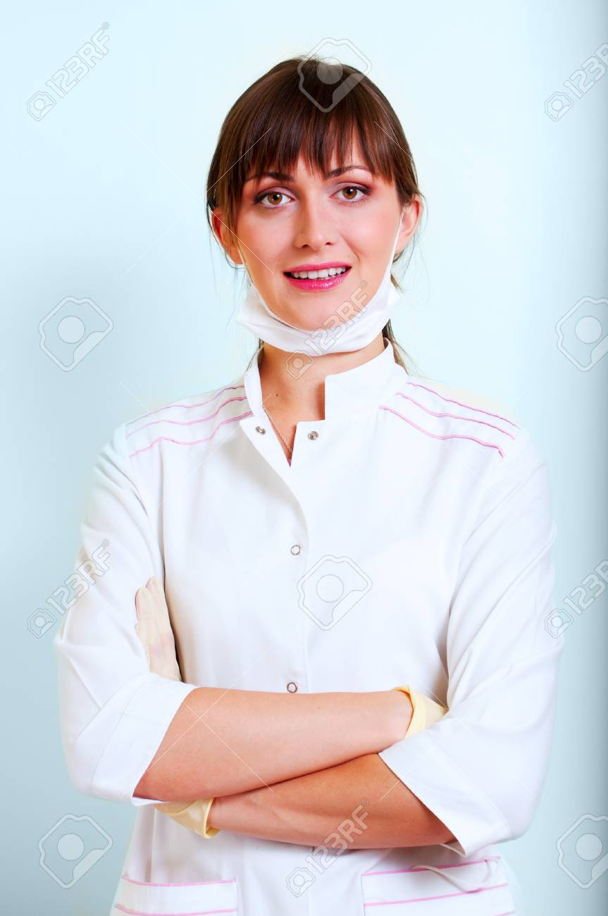 Portrait of a smiling young doctor Stock Photo - 7761863