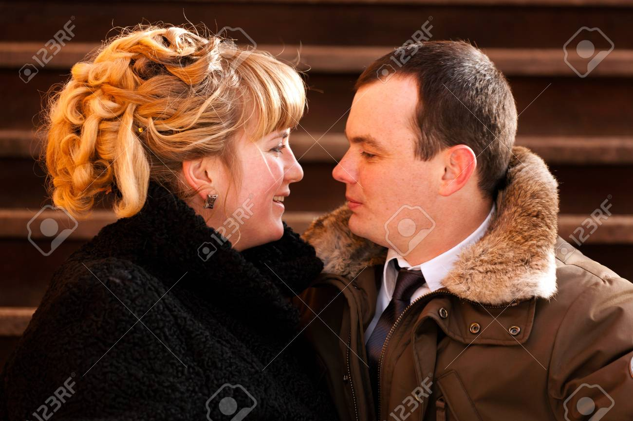 Portrait of a happy young couple - outdoor Stock Photo - 14449617