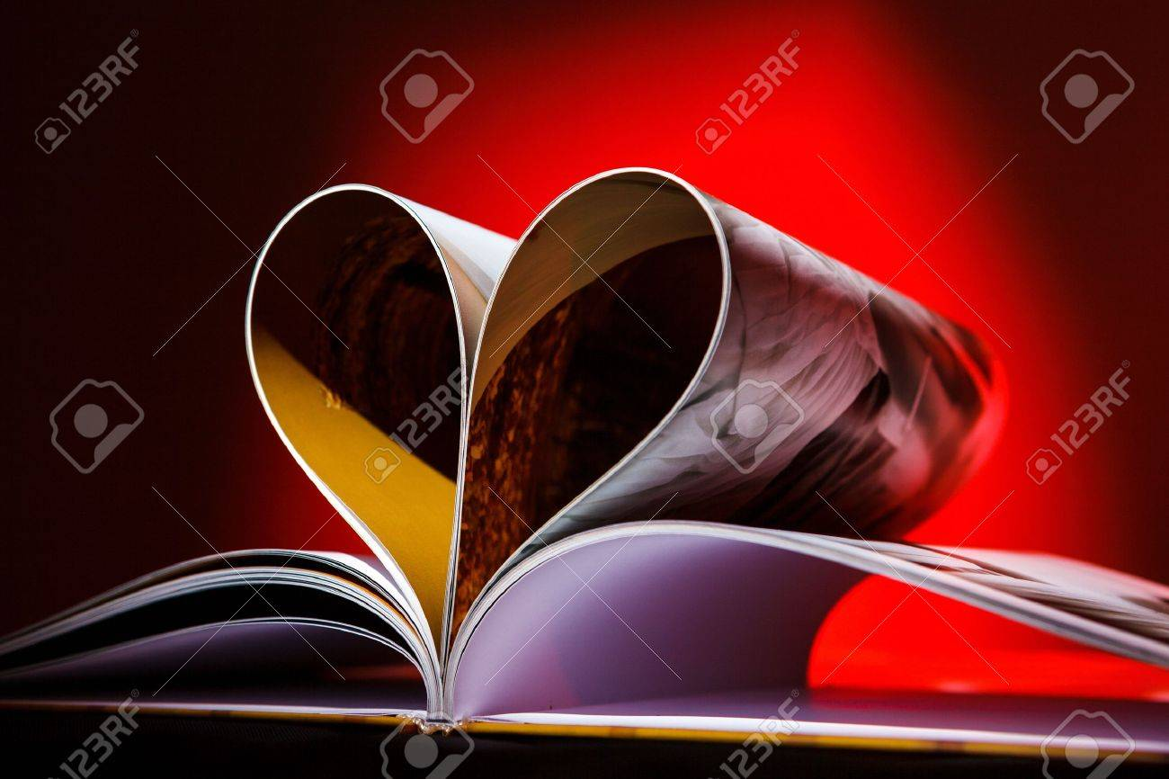 Pages of book curved into a heart shape Stock Photo - 15325066