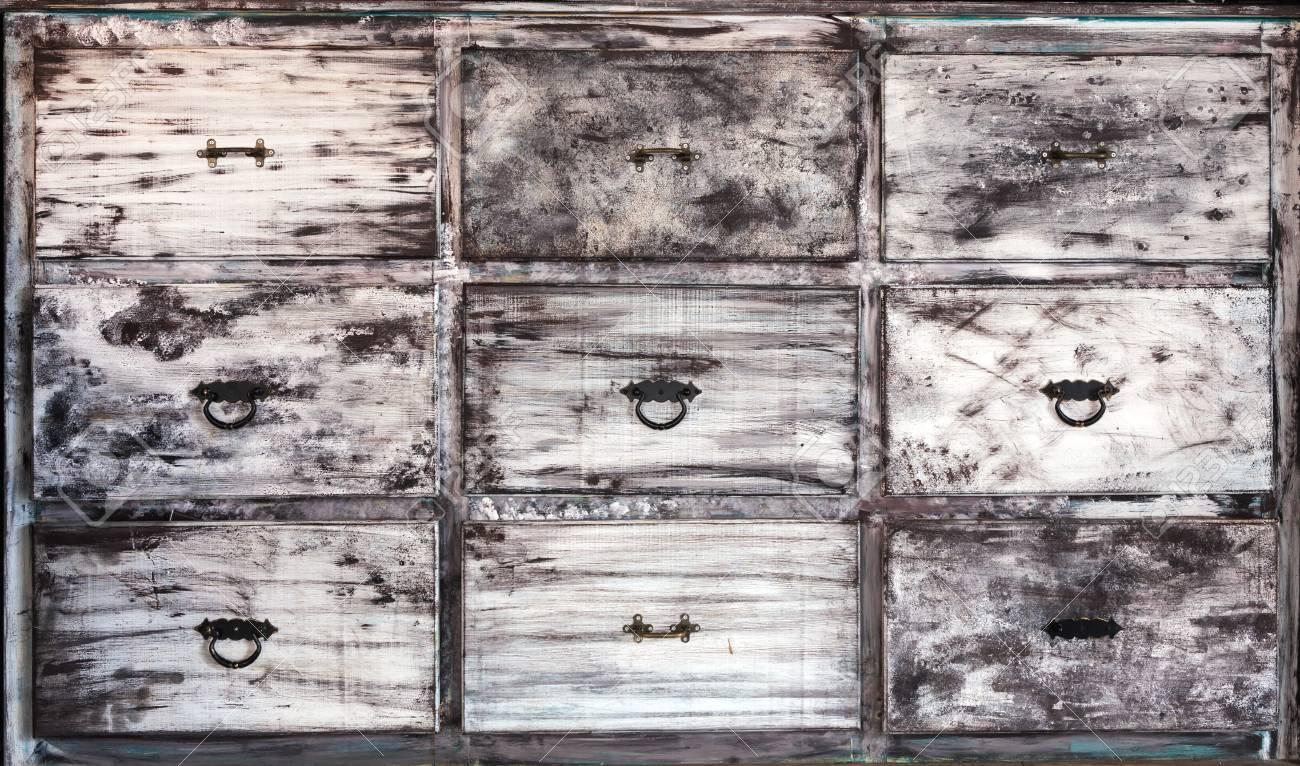 Legno Bianco Vintage : Immagini stock questo è vintage cassetti in legno