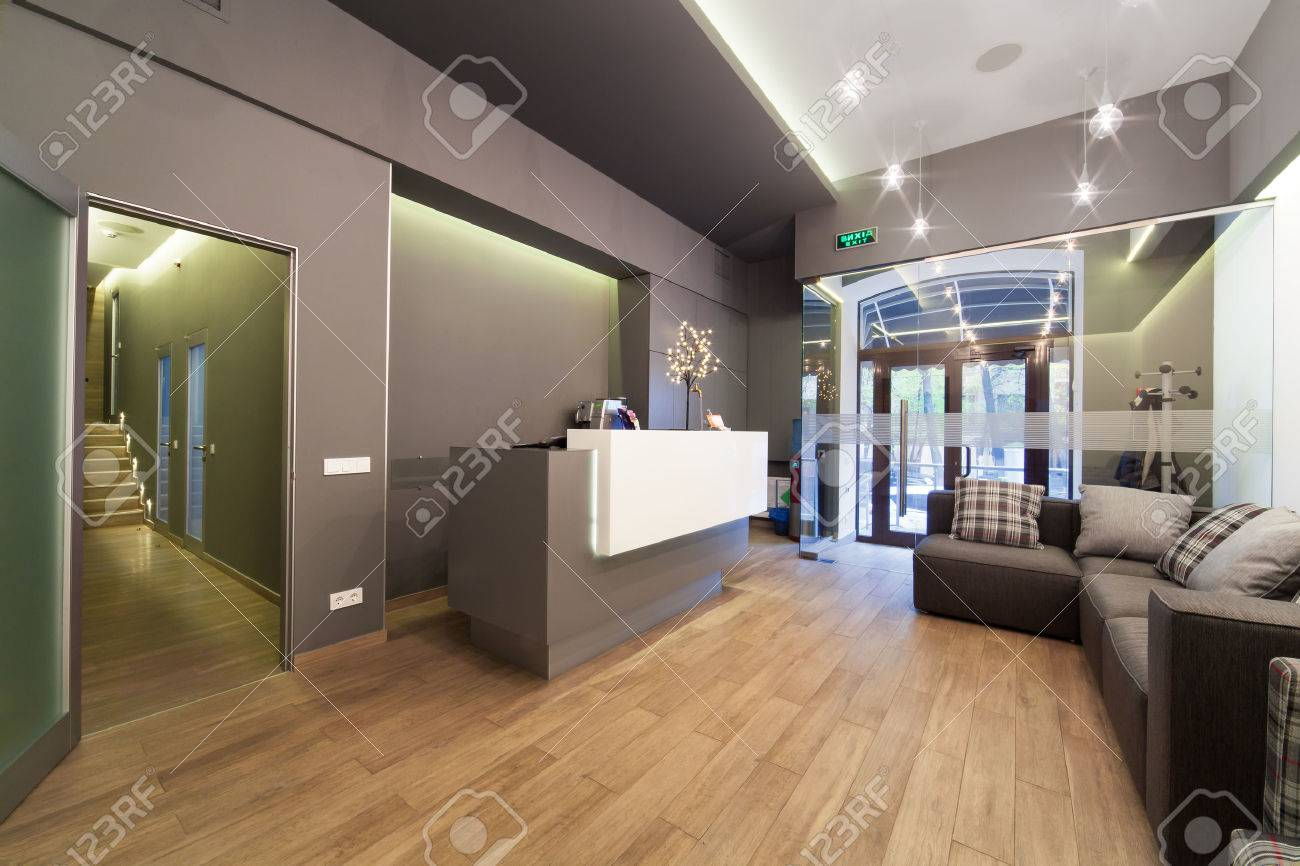 Modern Interior Design. Lobby At Dental Clinic. Stock Photo, Picture ...