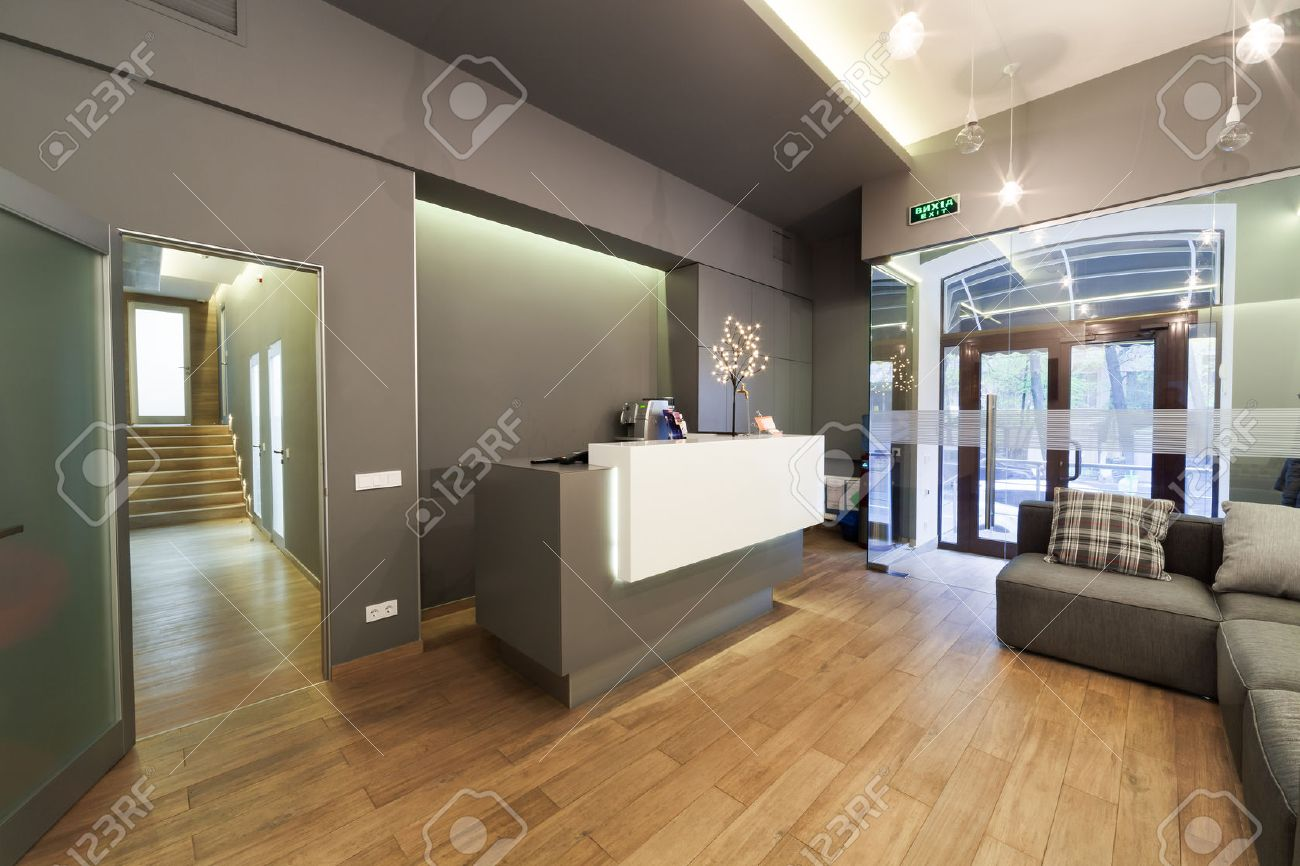 modern interior design lobby at dental clinic stock photo picture