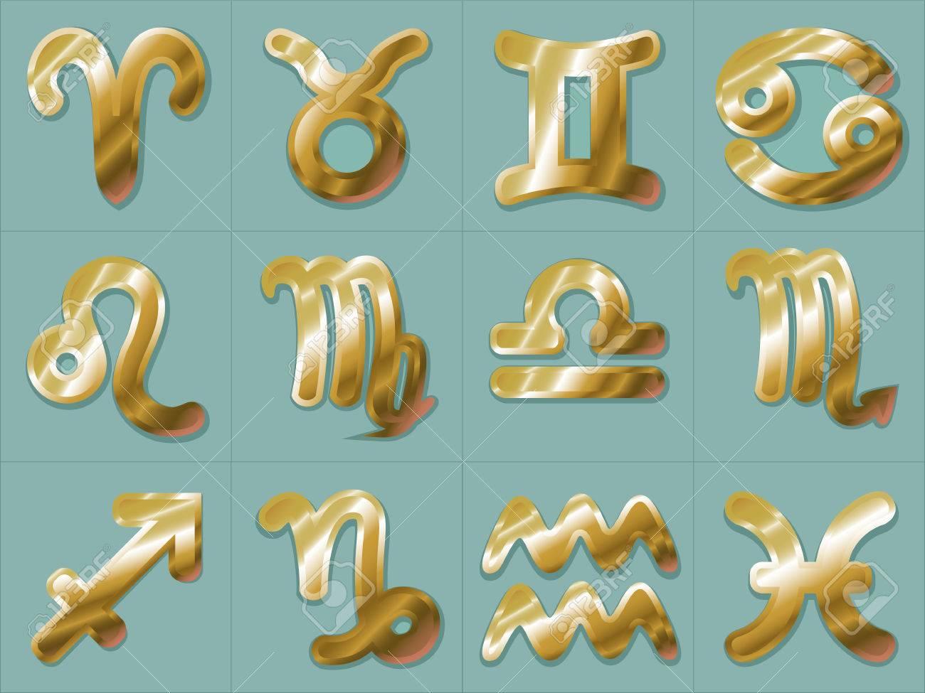Teal Aquarius Sign Sticker
