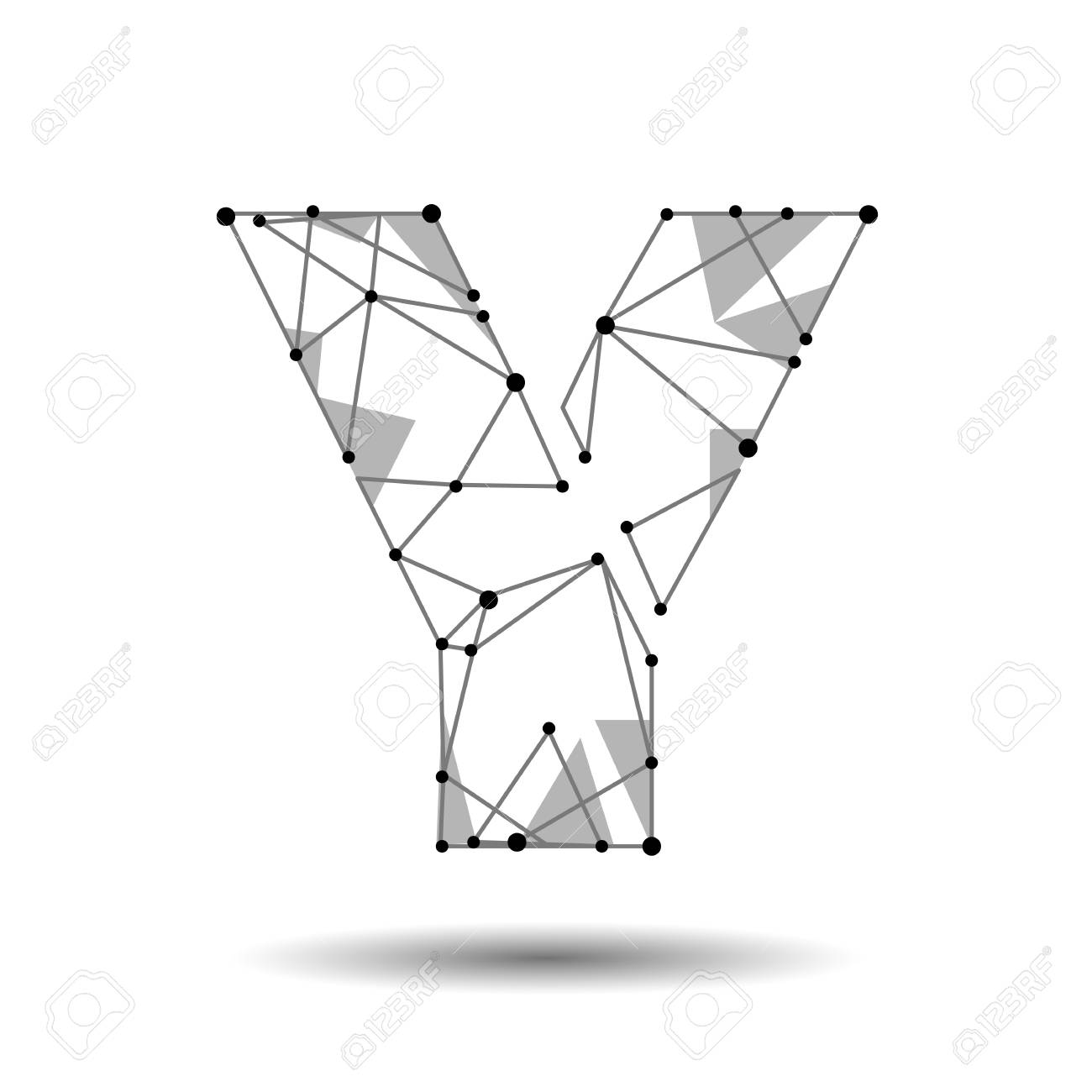 Low poly letter y english latin polygonal triangle connect dot low poly letter y english latin polygonal triangle connect dot point line black white altavistaventures Image collections