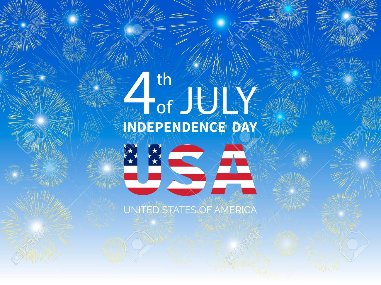 Independence Day.Fourth Of July Independence Day Of The Usa Fireworks On
