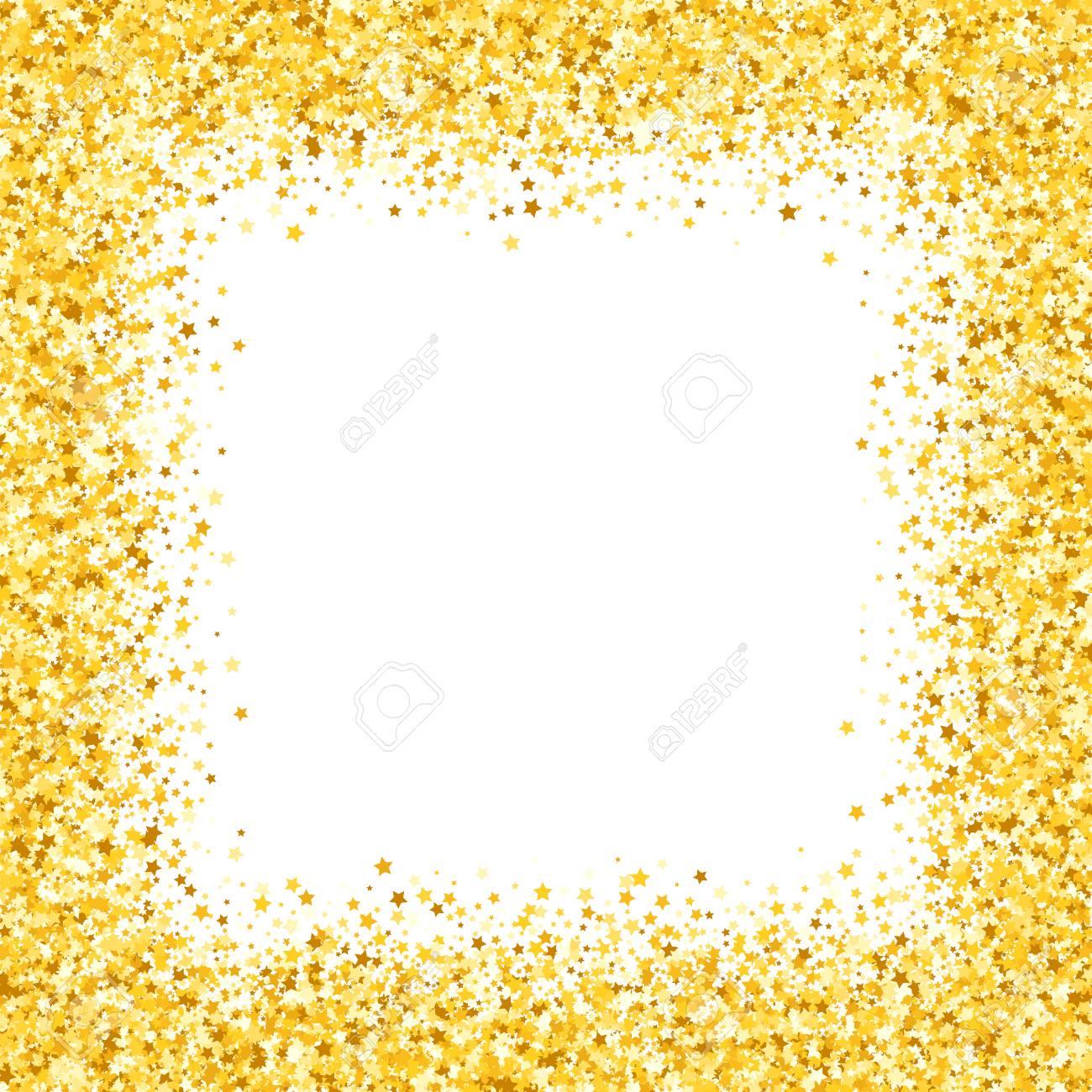 Karte Mit Schimmer Grußkarte Mit Sternen. Gold Funkeln. Schimmern ...