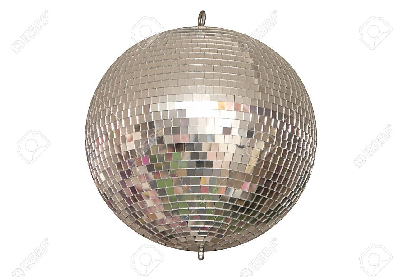Immagini Palla Da Discoteca.Una Palla Da Discoteca E Su Sfondo Bianco