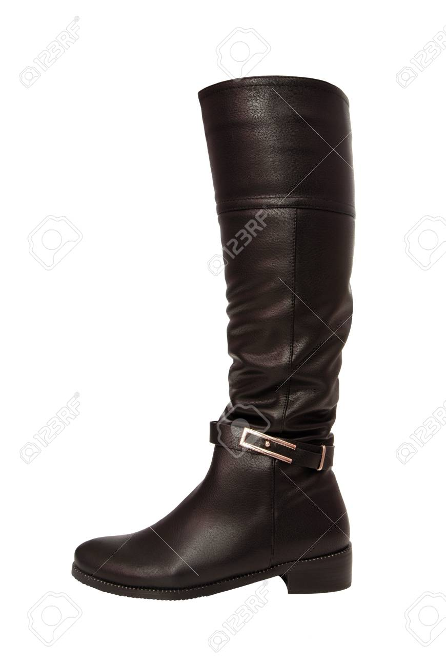 Black Leathern Jackboot Stock Photo, Picture And Royalty Free ...