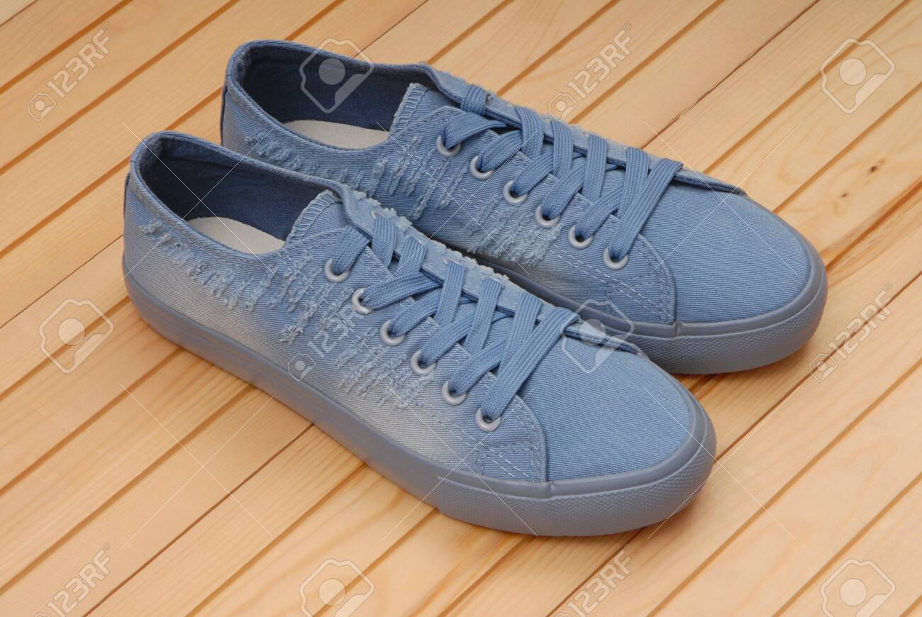 Textile Sneakers, Light Blue Trainers