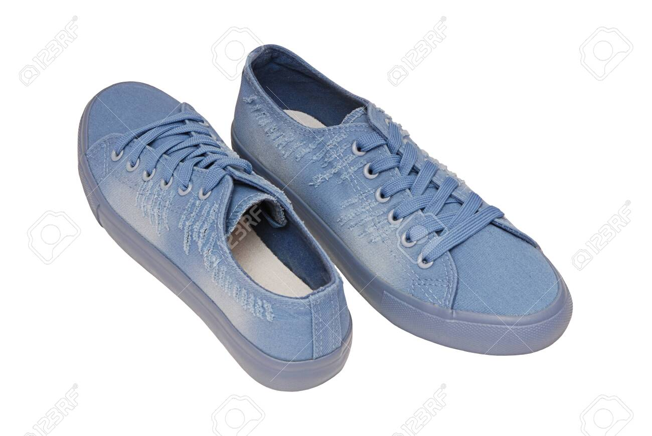 Light Blue Footwear, Textile Sneakers