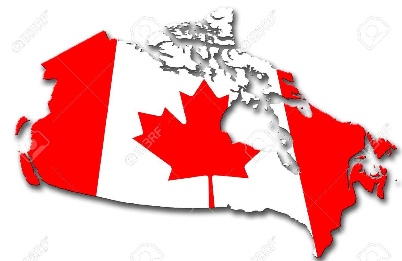 Canada Stock Photo Picture And Royalty Free Image Image - Canada map with flag
