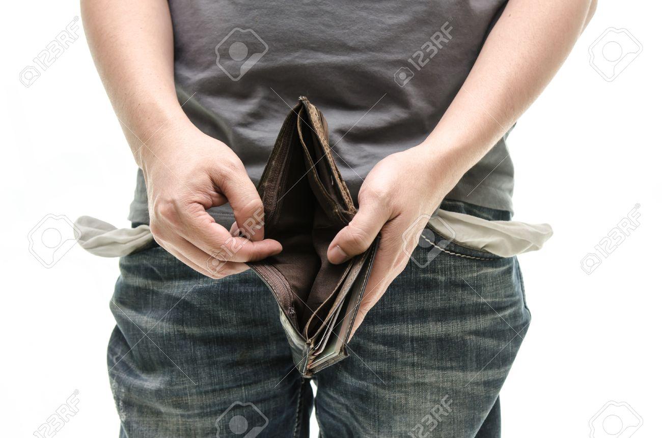 empty wallet in male hands as symbol poverty and unemployment empty wallet in male hands as symbol poverty and unemployment finance and poor economy