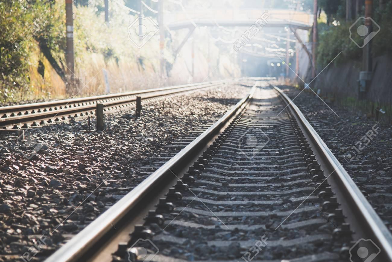 Railway for train transportation in japan