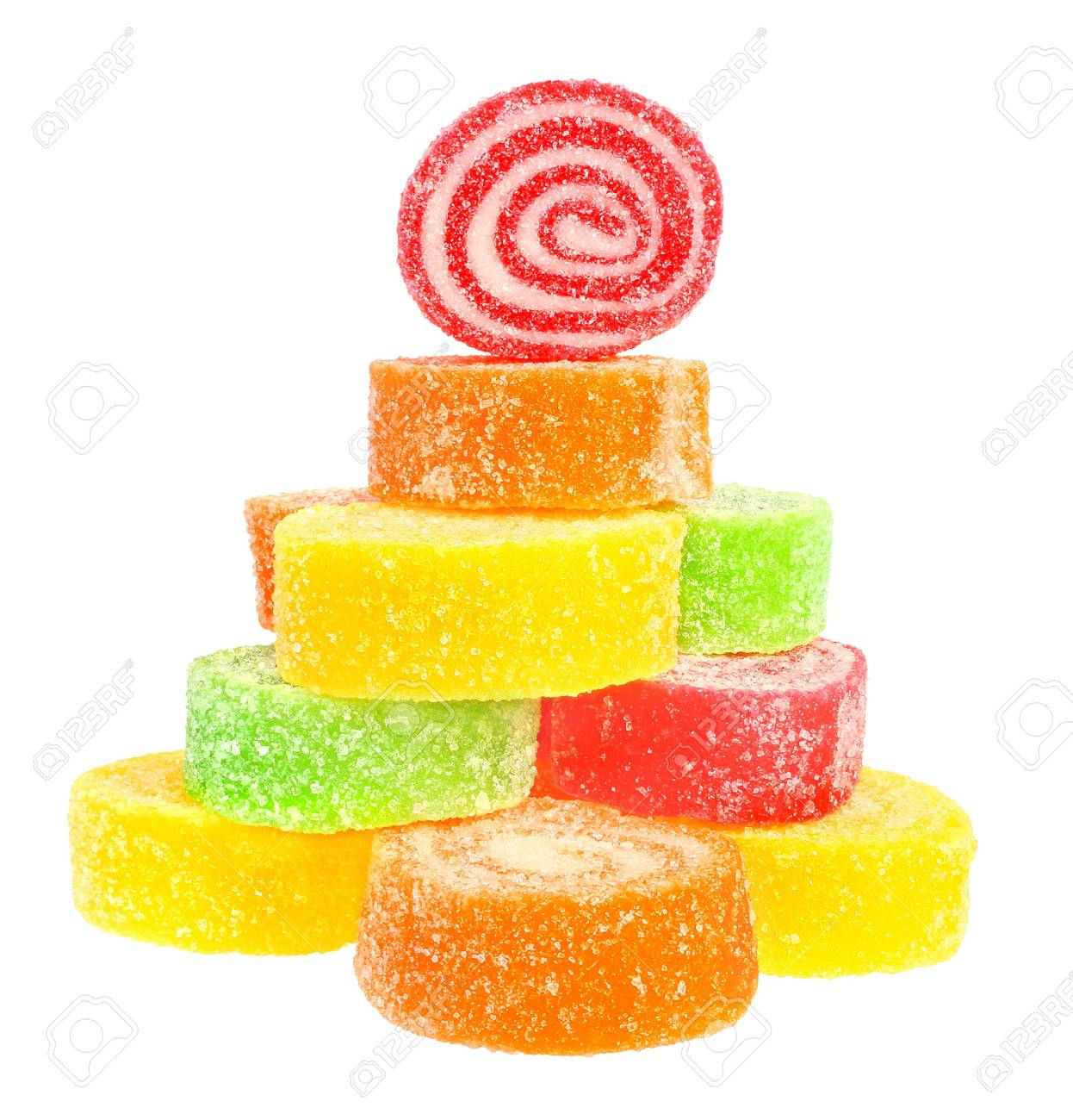 Candy on a white background. Stock Photo - 9857480