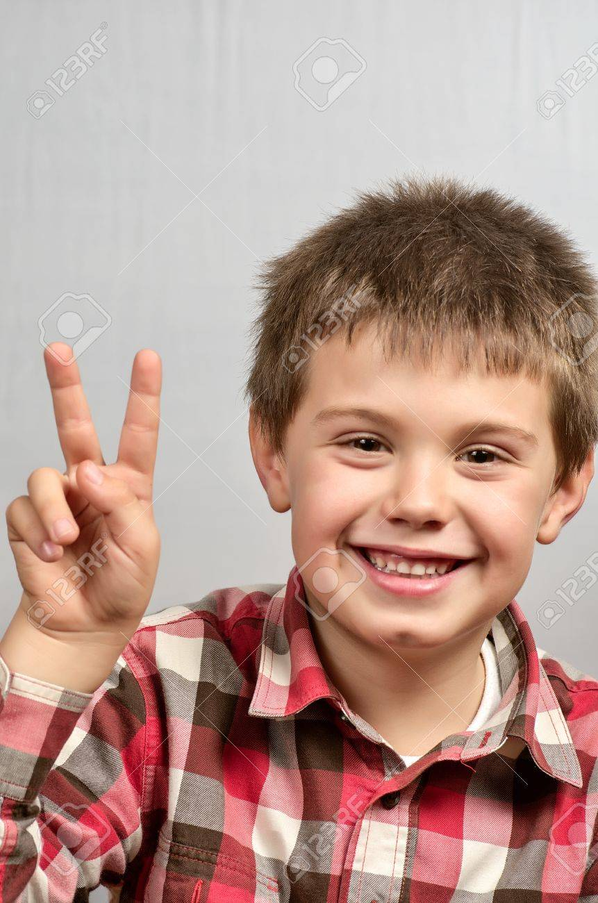 child making ugly faces Stock Photo - 17191429