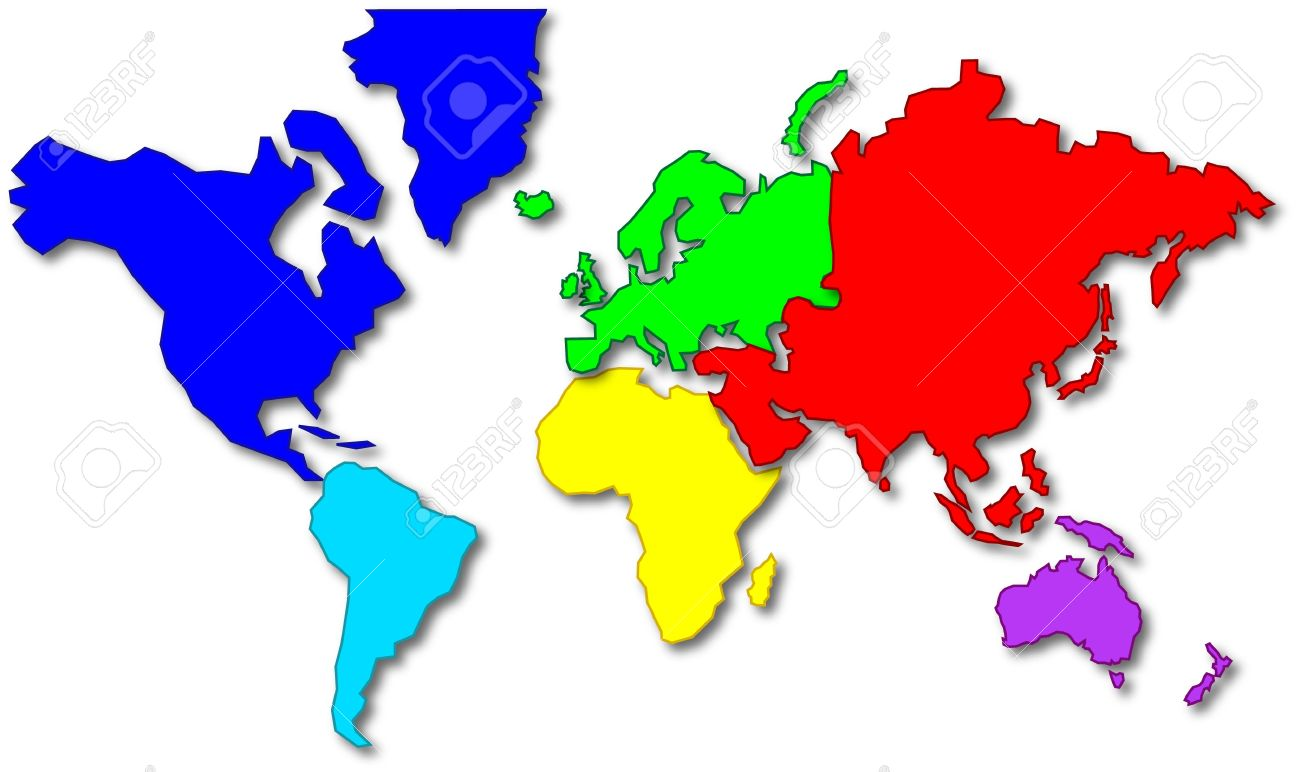 Cartoon style world map showing the continents stock photo picture cartoon style world map showing the continents stock photo 3481600 gumiabroncs Image collections