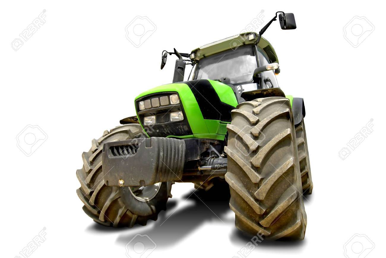 Green tractor isolated in white Stock Photo - 5141047