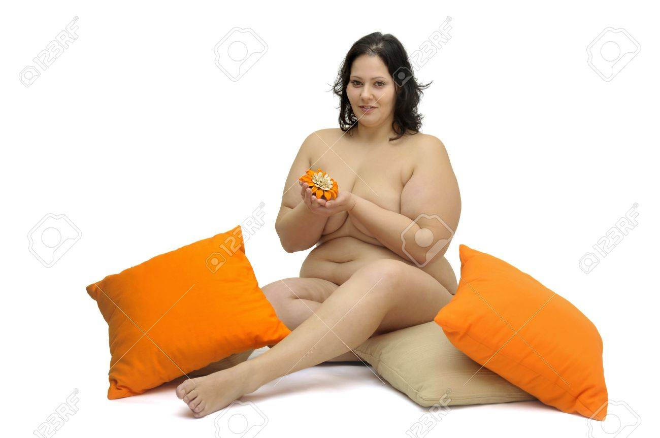 Beautiful large girl isolated in white Stock Photo - 9532804